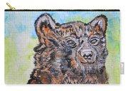 Cute Baby Black Bear Art Carry-all Pouch