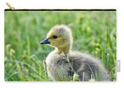 Cute Baby Goose In A Grass Field Carry-all Pouch