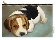 Cute Beagle Carry-all Pouch by Angeles M Pomata