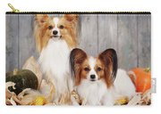 cute couple dogs breed papillon by Iuliia Malivanchuk  Carry-all Pouch