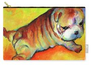 Cute English Bulldog Puppy Dog Painting Carry-all Pouch