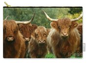 Cute Fluffy Cows Carry-all Pouch