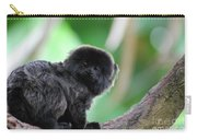 Cute Goeldi's Marmoset Sitting In A Tree Carry-all Pouch