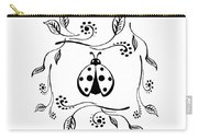 Cute Ladybug Baby Room Decor Vi Carry-all Pouch