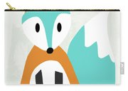 Cute Orange And Blue Fox- Art By Linda Woods Carry-all Pouch