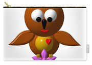 Cute Owl With Orchid Carry-all Pouch
