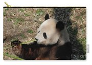 Cute Panda Bear Eating A Green Shoot Of Bamboo Carry-all Pouch