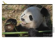 Cute Panda Bear With Very Sharp Teeth Eating Bamboo Carry-all Pouch