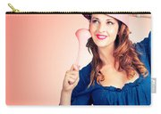 Cute Pinup Cook Thinking Up Colander Cooking Idea Carry-all Pouch