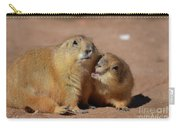 Cute Prairie Dog Nipping At His Friend Carry-all Pouch