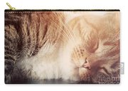 Cute Small Cat Sleeping Carry-all Pouch