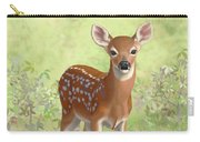 Cute Whitetail Deer Fawn Carry-all Pouch by Crista Forest