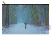Cycling In The Snow Carry-all Pouch