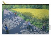Cyclists And Yellow Field Carry-all Pouch