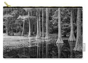 Cypresses In Tallahassee Black And White Carry-all Pouch