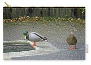 D-a0048 Mallard Ducks In Our Yard Carry-all Pouch