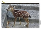 D-a0069 Mule Deer Fawn On Our Property On Sonoma Mountain Carry-all Pouch