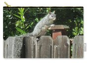 D-a0071-e-dc Gray Squirrel On Our Fence Carry-all Pouch