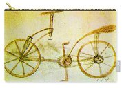 Da Vinci Inventions First Bicycle Sketch By Da Vinci Carry-all Pouch