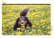 Dachshund On A Meadow In Bloom Carry-all Pouch