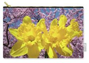 Daffodil Flowers Spring Pink Tree Blossoms Art Prints Baslee Troutman Carry-all Pouch