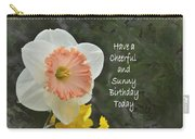 Daffodil Peach And Yellow Birthday  Carry-all Pouch