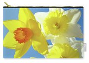 Daffodils Art Print Floral Sky Bouquet Daffodil Flower Baslee Carry-all Pouch