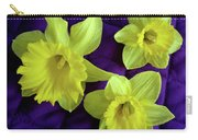 Daffodils On A Purple Quilt Carry-all Pouch