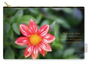 Dahlia And Proverbs Verse Carry-all Pouch