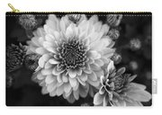 Dahlia Burst B/w Carry-all Pouch