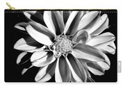 Dahlia Close Up - B And W Carry-all Pouch
