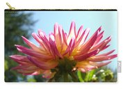 Dahlia Floral Garden Art Prints Canvas Summer Blue Sky Baslee Troutman Carry-all Pouch