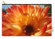 Dahlia Floral Orange Yellow Flower Botanical Art Prints Canvas Baslee Troutman Carry-all Pouch