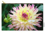 Dahlia Floral Pink Yellow Flower Garden Baslee Troutman Carry-all Pouch