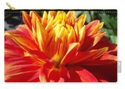 Dahlia Florals Orange Dahlia Flower Art Prints Canvas Carry-all Pouch