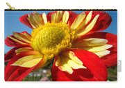Dahlia Flower Art Prints Canvas Red Yellow Dahlias Baslee Troutman Carry-all Pouch