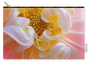 Dahlia Flower Macro Pink White Dahlias Floral Baslee Troutman Carry-all Pouch