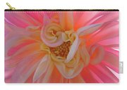 Dahlia Flower Sunlit Pink White Dahlia Garden Floral  Carry-all Pouch