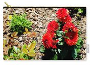 Dahlia Flowers Carry-all Pouch by Corey Ford