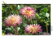 Dahlia Garden Floral Pink Yellow Botanical Landscape Baslee Troutman Carry-all Pouch