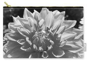 Dahlia In Black And White 2 Carry-all Pouch