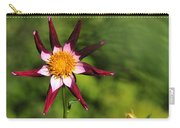 Dahlia Red White And Green Carry-all Pouch