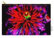 Dahlia Rouge Texture Avec La Frontiere  Carry-all Pouch