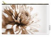 Dahlia Sepial Flower Carry-all Pouch