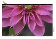 Dahlia With Dew In Pink Carry-all Pouch