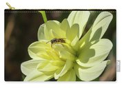 Dahlia With Wasp Carry-all Pouch