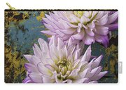 Dahlias Against Rusty Wall Carry-all Pouch