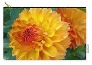 Dahlias Art Prints Orange Dahlia Flowers Baslee Troutman Carry-all Pouch