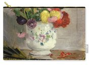 Dahlias Carry-all Pouch by Berthe Morisot