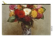 Dahlias In A Chinese Vase Carry-all Pouch